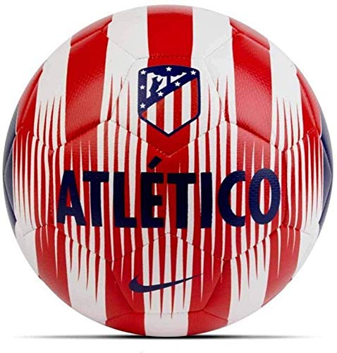 Nike Atlético de Madrid Prestige Fußball, White/Sport Red/Deep Royal Blue, 5