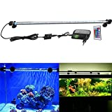 SUBOSI FVTLED Cambia Color Lámpara de Acuario 6.5W 57CM 30 Luces SMD5050 IP68 LED Lampara Tira Pecera Sumergible Submarino Luz