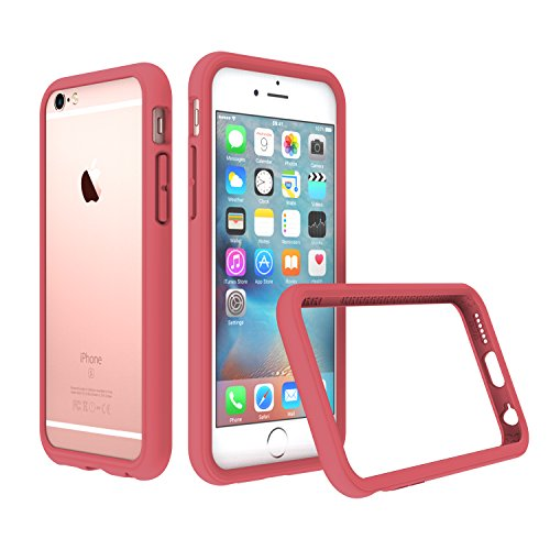 RhinoShield Bumper Case Compatible with [iPhone 6 Plus/iPhone 6S Plus] | CrashGuard - Shock Absorbent Slim Design Protective Cover [3.5 M / 11ft Drop Protection] - Coral Pink