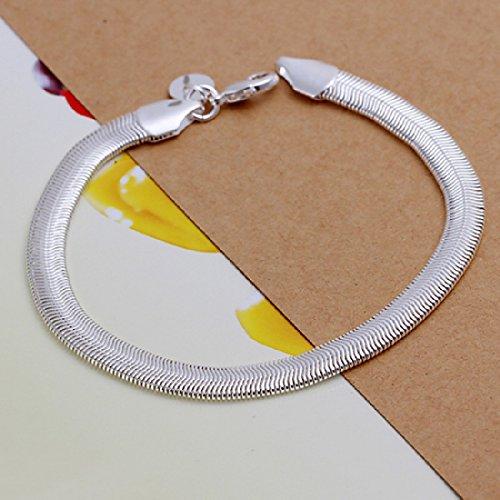 joyliveCY 2018la moda mujer elegante 925bañado en plata joyas pulsera soporte de suave Serpiente de hueso fresco