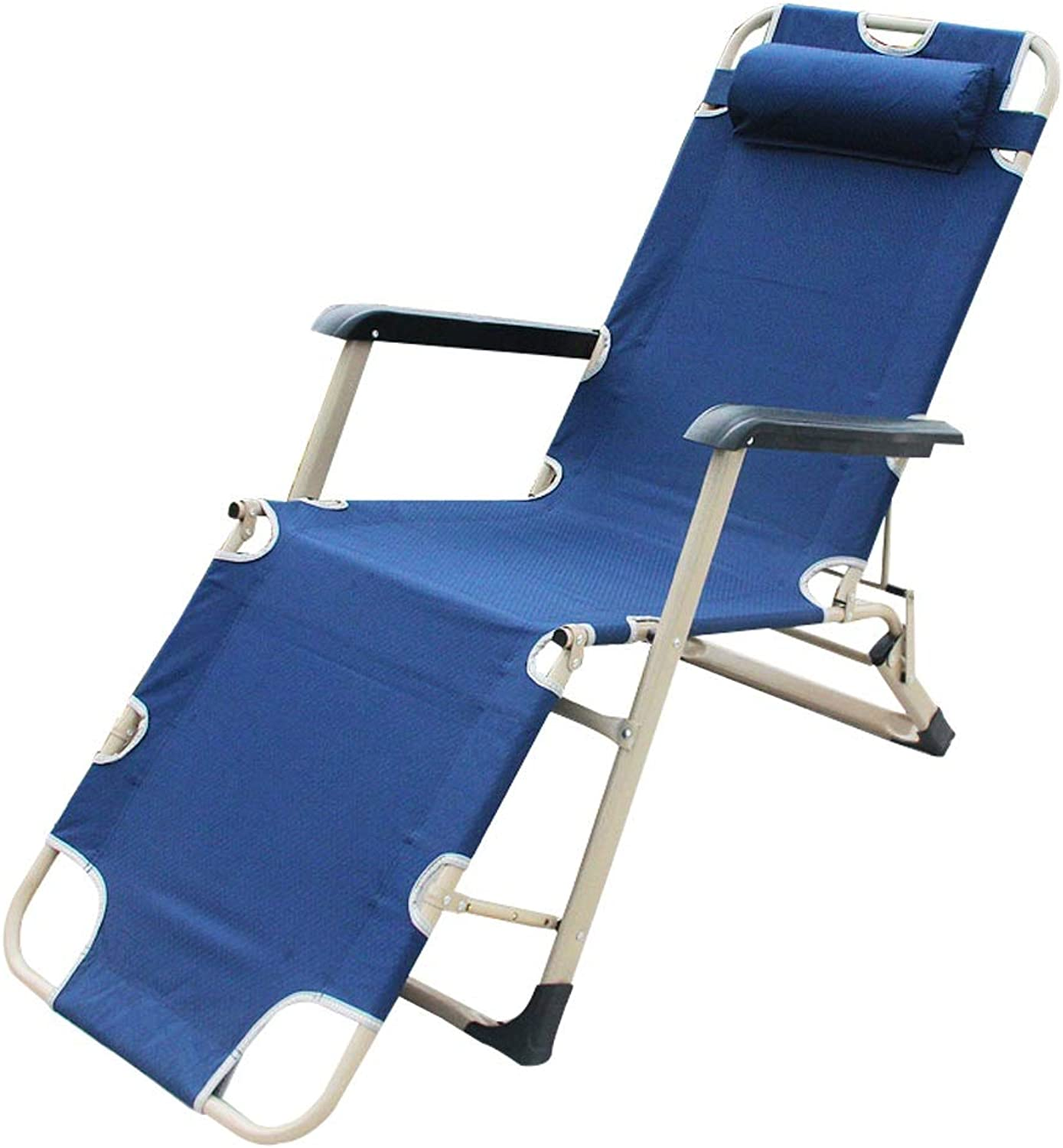 Siesta Bed Lounge Chair  Folding Bed Single Bed  Office Napping Bed Both Sides Reinforced MultiFunction Folding Bed, bluee, 178  59  22cm