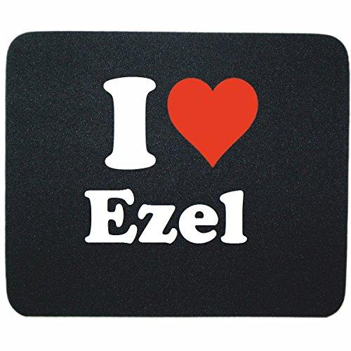 EXCLUSIVO: Tapete de ratón 'I Love Ezel' en Negro, una gran idea para un regalo para sus socios, colegas y muchos más!- regalo de Pascua, Pascua, ratón, Palmrest, antideslizante, juegos de jugador, cojín, Windows, Mac OS, Linux, ordenador, portátil, PC, oficina, tableta, Amo Made in GERMANY.
