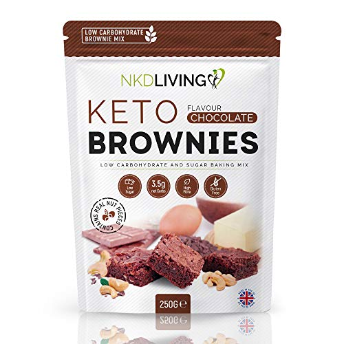 NEW Keto Brownie Mix by NKD Living (250g) Low Carbohydrate and Sugar Baking Mix