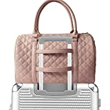Best Carry On Bag For Women - Chavon Womens Quilted Weekender Duffle Carry Bags Overnight Review