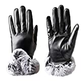 Vagasi Women Winter Gloves Thermal Velvet Touch Screen Texting Windproof Warm Glove