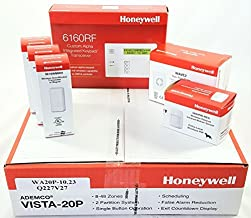 Honeywell Vista 20P Wireless Kit with a 6160RF Keypad, One 5800PIR-Res Motion Sensor, Three 5816WMWH Door/Window Contacts, and a WAVE2 Siren