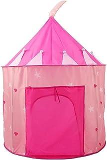 YSJJUSZ Barntält bärbar barntält tipi barnhus lek wigwam flickor utomhus camping teepee barn stora spelhus tält (färg: Täl...