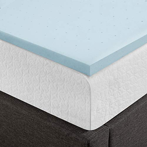 Best Price Mattress King 1.5 Inch Gel Memory Foam Bed Topper with Cooling Mattress Pad Size, Blue