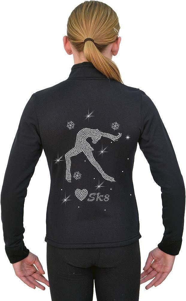 ChloeNoel Figure sale Skating Solid Polar Pol by Rare Fitted Fleece Jacket