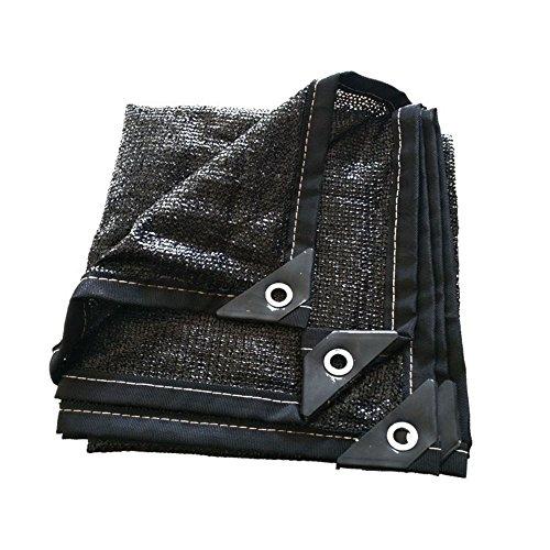 YMXLJF Filet d'ombrage, 8-pin cryptage Isolation Solaire crème Net Voiture Balcon Toit écran Solaire d'ombrage Bloquer 70% des Rayons UV (Couleur : Noir, Taille : 4 * 8m)