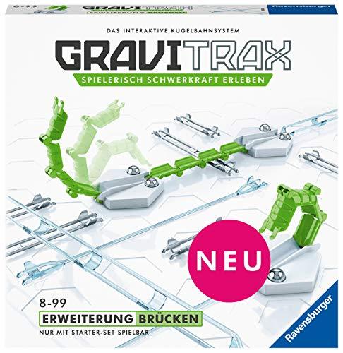 Ravensburger GraviTrax Erweiterung Brücken - Ideales Zubehör für spektakuläre Kugelbahnen, Konstruktionsspielzeug für Kinder ab 8 Jahren
