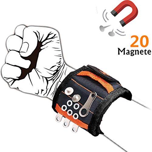 Muñequera Magnetica Pulsera Ajustable Con 20 Potentes