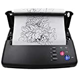 Tattoo Transfer Stencil Machine,Beoncall Tattoo Transfer Printer Machine Black Thermal Copier Printer with Tattoo Transfer Papers for Tattoo Transfer Paper Tattoo Supplies