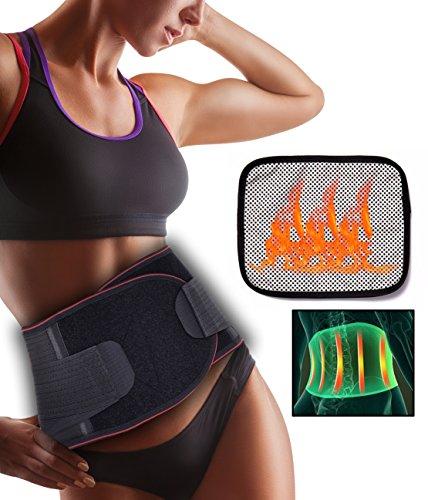 CROSS1946 FITTOO Rückenbandage Taillen Wärme Rückengurt Kompression Rückenstützgürtel Wärmegürtel Rücken-Gurt mit 3 Stützstreben Lendenwirbelstütze Atmungsaktive Rückenmuskulatur Damen und Herren L