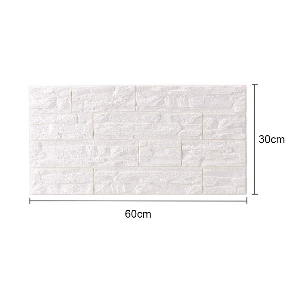 JiaMeng Pegatina de Pared, DIY 3D ladrillo PE Espuma Wallpaper Panels Room Decal Stone decoración en Relieve: Amazon.es: Hogar