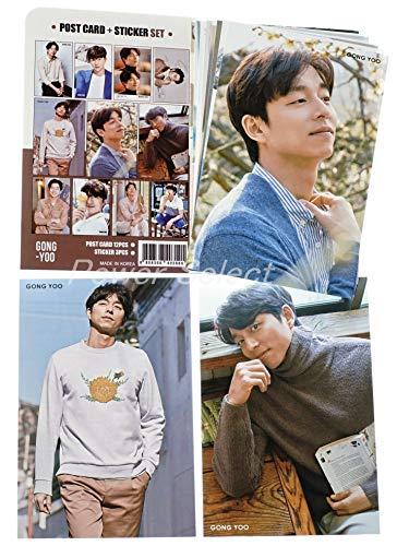 コン・ユ GONG YOO グッズ 【 ポストカード セット ( ポストカード 12枚 + ステッカー 3枚 ) 】 15点セット