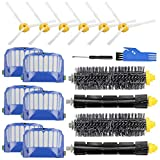 Replacement Parts Accessory for iRobot Roomba 600 500 Series 692 695 690 680 660 650 630 620 614 610 595 585 564 552 Vacuum Cleaner Replenishment Kit, 6 Filter 6 Side Brush 2 Bristle & 2 Beater Brush