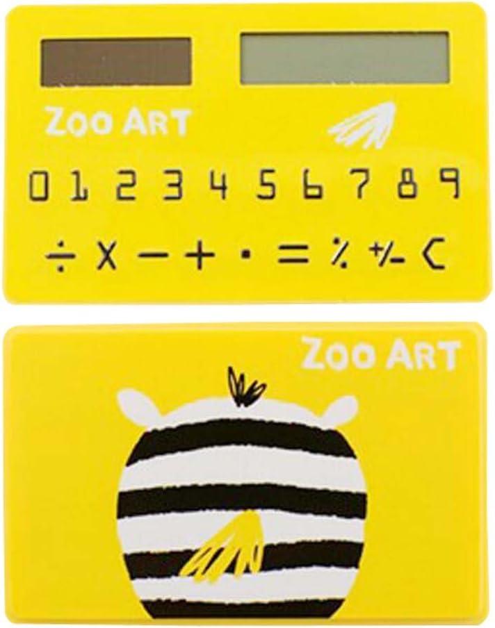 Creative Solar Portland Mall Calculator Super sale period limited Yellow Cute Mini