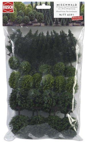 Busch 6591 - Juego de árboles Variados (50 Unidades)