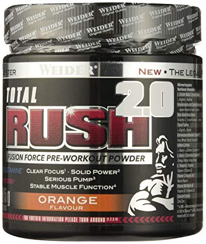 Weider Total Rush 2.0, Arancia, 375 g