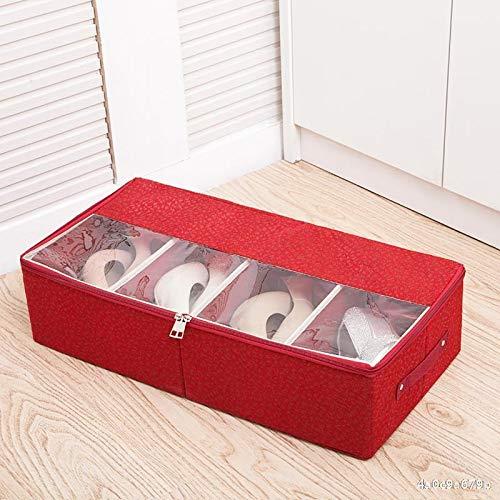 Organizador de zapatos sobre la puerta Gruesa transparente caja de zapatos cama...