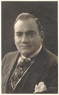 Enrico Caruso - Picture Post Card Signed Circa 1915