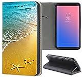 Huawei P20 Lite Hülle Premium Smart Einseitig Flipcover Hülle P20 Lite Flip Hülle Handyhülle Huawei P20 Lite Motiv (1506 Strand Meer Sonne Urlaub)