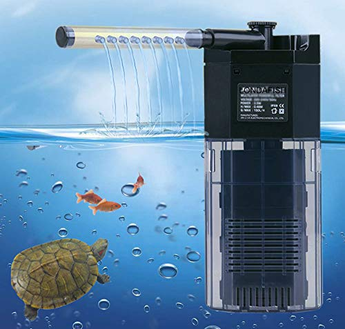 LONDAFISH Leiser 3-Stufen-Filter mit integriertem Multifunktions-Aquarium und Wasserpumpe