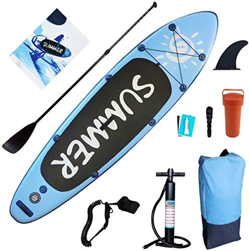 FANLIU Paddle Board Inflable Crucero Sup 300 * 80 * 15 cm Ultra-Light Stand Up Paddleboard Incluye Paddle Hombro Bomba Correa del Correo Bolsa for Jóvenes y Adultos