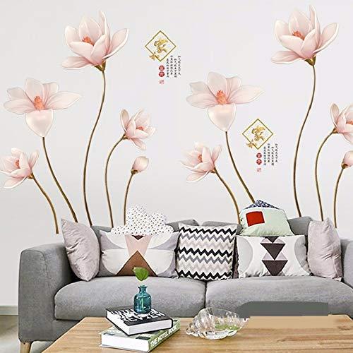 Muursticker Chinastyle Lily Wall Stickers voor La Sala Studio Home Decoratie vliegtuig Pastrol Murale Wallposters DIY bevordering