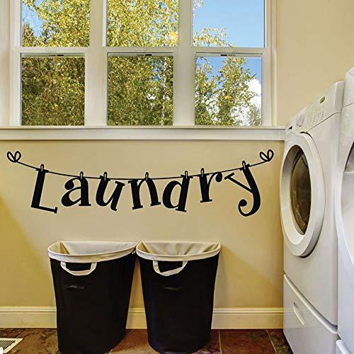 Muchkey Wandaufkleber mit Namen Laundry Room Wall Dekorationen Kunst Vinyl selbstklebend Aufkleber Wandtattoos