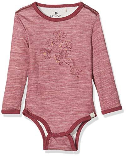 CeLaVi Body Mit Langen Ärmeln in Weicher Wolle Außen Und Viskose Innen, Rouge (Rot), 68/74 (Taille Fabricant: 70) Mixte bébé
