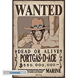1art1 One Piece - Wanted Portgas D Ace Póster Mini (52 x 35cm)