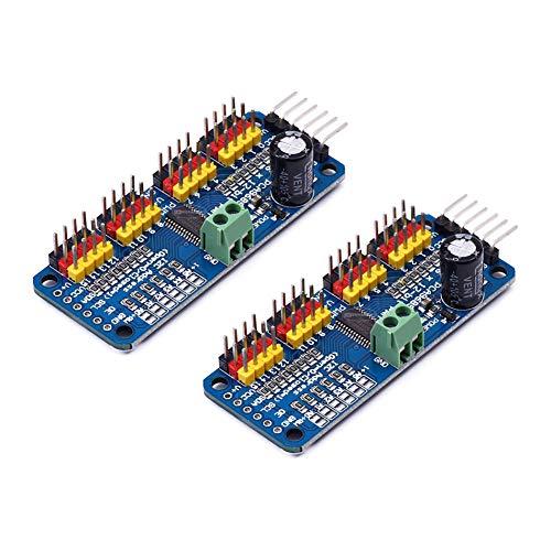 SongHe PCA9685 PCA9685 16 Kanal PWM/Servo Treiber für Arduino oder Raspberry Pi Shield Modul Servo Shield (2 Stück)
