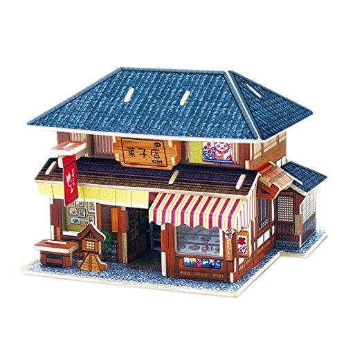 [Japonaise Dessert House] Bâtiment Modèle Kids 'Puzzle 3D Puzzle drôle Children