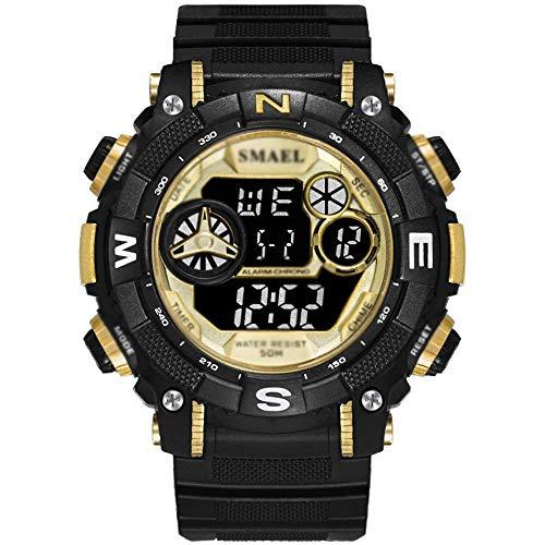 SXXYTCWL Relojes for Deportes de los Hombres, la función Reloj Multi Deporte Militar, Despertador Digital a Prueba de Agua Relojes, con el Día Display, Pantalla Mes, Calendario A jianyou (Color : C)