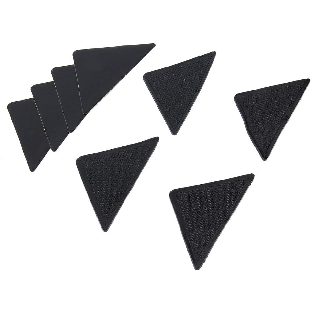 虚栄心教えテラスSwiftgood 4個の敷物のカーペットのマットのグリッパーの非スリップの反スキッドの再使用可能なシリコーンのグリップパッド