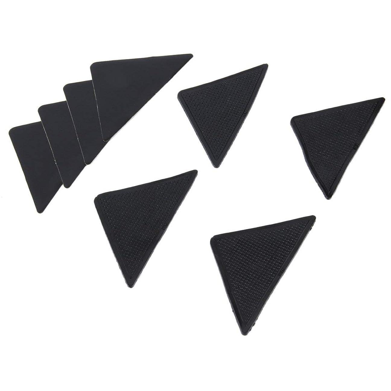 予定おとこ武装解除Swiftgood 4個の敷物のカーペットのマットのグリッパーの非スリップの反スキッドの再使用可能なシリコーンのグリップパッド