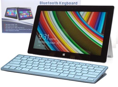 Navitech Schwarzes Wireless Windows 8 Bluetooth Keyboard für das Acer Aspire Z3 / Acer Aspire ZC/Acer DA 241HL