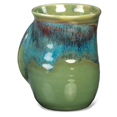 Clay in Motion Handwarmer Mug - Misty Green - Right Handed