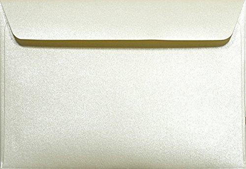 Netuno 25 Perlmutt- Creme C6 Briefumschläge 120g, 114x162mm, Majestic Candelight Cream, gerade Klappe, ideal für Hochzeit, Geburtstag, Taufe,Weihnachten, Einladungen, Gelegenheitskarten, Briefkarten