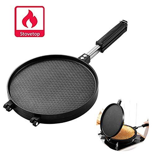 Máquina de Crêpes Cucurucho de Helado Profesional Gofrera de Rollo de Huevo Máquina de Barquillo Waffle Maker Antiadherente (Size : L)