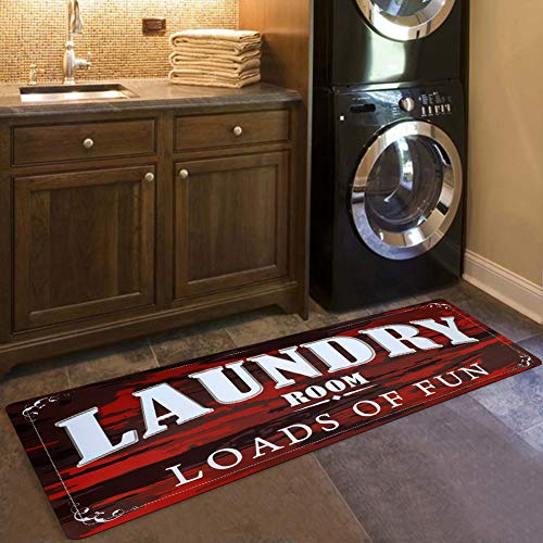 USTIDE Laundry Room Loads of Fun Rug Floor Mat Christmas