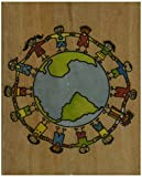 Rubber Stampede Rubber Stamp - Let's Save Our World