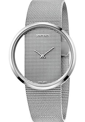 Calvin Klein dames analoog kwarts horloge met roestvrij stalen armband K9423T27