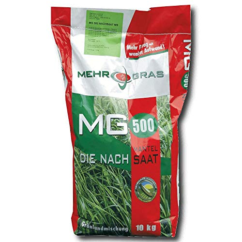 Prairie Sursemis Semis de couverture 10 kg MG 500 Graines d'herbe Pâturage