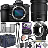 Nikon Z7 Mirrorless Digital Camera and Nikkor Z 24-70mm Lens + Nikon FTZ Mount Adapter with Altura Photo Complete Accessory and Travel Bundle