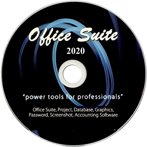 Office Suite 2020 on DVD for Windows PC, 10, 8, or 7, Includes Computer Guide, Software Powered by Apache OpenOffice