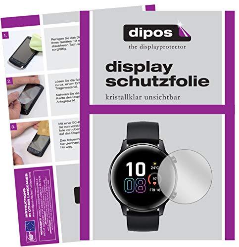 dipos I Schutzfolie kompatibel mit Honor Magic Watch 2 42mm Displayschutz-Folie klar (Kleiner als das Glas, da Dieses gewölbt ist)