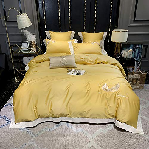 Generic Brands Duvet Cover Set,Cotton Duvet Cover Bedding Set High Thread Count Long Staple Sateen Weave Silky Soft Breathable Quality Bed Linen